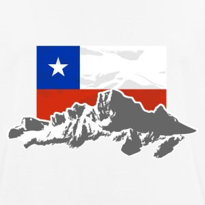 Chile -  Mountains & Flag T-Shirts - Men's Breathable T-Shirt