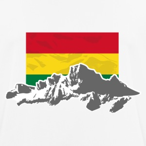 Bolivia - Mountains & Flag Camisetas - Camiseta hombre transpirable