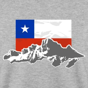 Chile -  Mountains & Flag Felpe - Felpa da uomo
