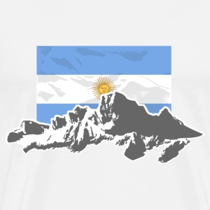 Argentina - Mountains & Flag T-Shirts - Men's Premium T-Shirt