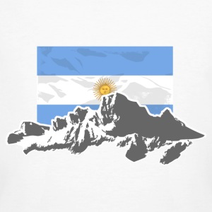 Argentina - Mountains & Flag Tee shirts - T-shirt bio Homme