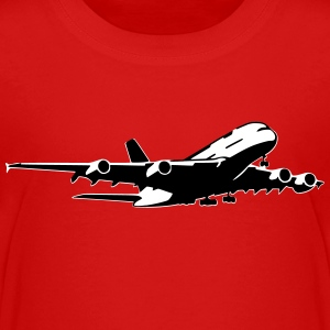 airplane Flugzeug A 380 (2 color) T-Shirts - Kinder Premium T-Shirt