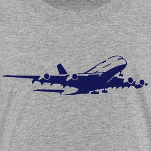airplane Flugzeug A 380 (1 color) Tee shirts - T-shirt Premium Ado