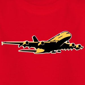 airplane Flugzeug A 380 (3 color) T-Shirts - Kinder T-Shirt
