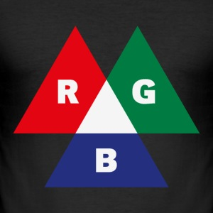 RGB Mode (Red - Green - Blue) PNG T-Shirts - Men's Slim Fit T-Shirt