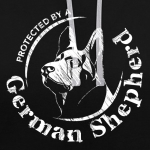Protected by a German Shepherd - Contrast Colour Hoodie