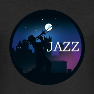 Cool Jazz design - Men's Slim Fit T-Shirt