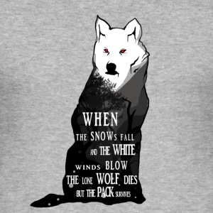 Cool Wolf Design - Men's Slim Fit T-Shirt