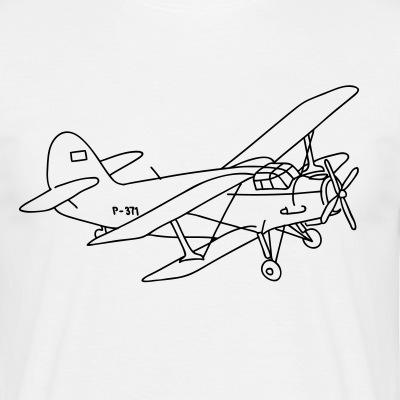Doppeldecker Flugzeug Propeller