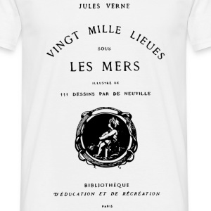 Verne book cover Tee shirts - T-shirt Homme
