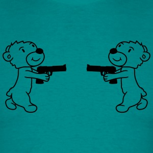 duel duel enemies shoot pistol knarre shoot crimin T-Shirts - Men's T-Shirt
