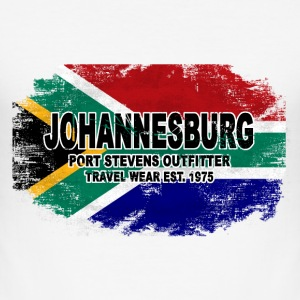 Johannesburg - South Africa - Vintage Flag T-Shirts - Männer Slim Fit T-Shirt