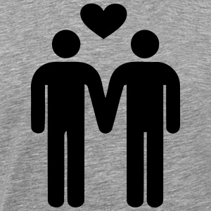 gay love - Amour Gay Tee shirts - T-shirt Premium Homme