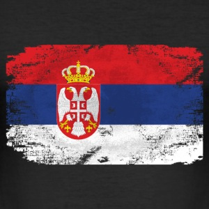 Serbia Flag  - Vintage Look T-Shirts - Männer Slim Fit T-Shirt