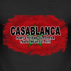 Casablanca - Morocco Flag  - Vintage Look T-Shirts - Männer Slim Fit T-Shirt