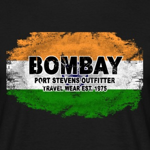 Bombay - India Flag - Vintage Look T-Shirts - Männer T-Shirt