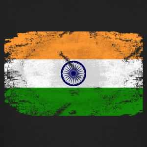 India Flag - Vintage Look T-Shirts - Männer Bio-T-Shirt