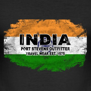 India Flag - Vintage Look T-Shirts - Männer Slim Fit T-Shirt