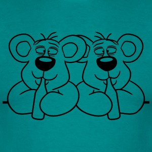 2 team crew buddies lijst muur schild gedronken do T-shirts - Mannen T-shirt