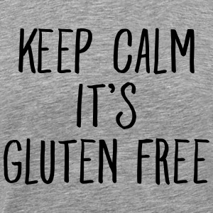 Keep Calm It\\\'s Gluten Free T-shirts - Premium-T-shirt herr