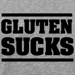 Gluten Sucks T-shirts - Mannen Premium T-shirt