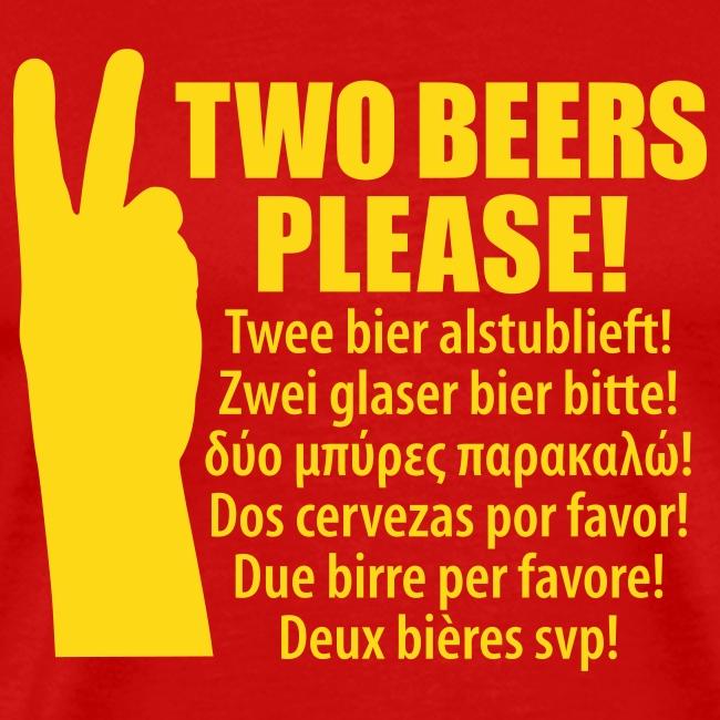 Vakantie T-shirt 2 bier alsjeblieft!