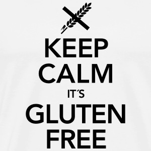 Keep Calm It´s Gluten Free T-shirts - Premium-T-shirt herr
