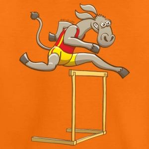 Donkey Running and Jumping in a Hurdling Race Shirts - Kids' Premium T-Shirt