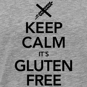 Keep Calm It´s Gluten Free T-skjorter - Premium T-skjorte for menn