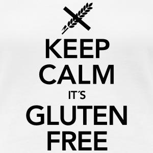 Keep Calm It´s Gluten Free T-shirts - Premium-T-shirt dam