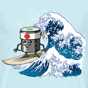 Sushi surfing wave - Männer T-Shirt