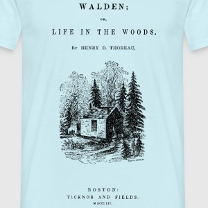 walden book cover T-shirts - Herre-T-shirt