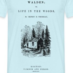 walden book cover Tee shirts - T-shirt Homme