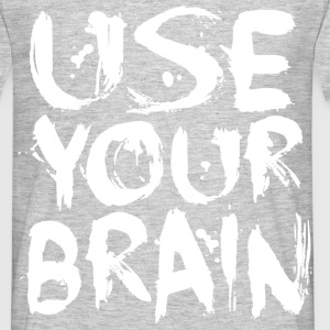 Use Your Brain - White - Men's T-Shirt