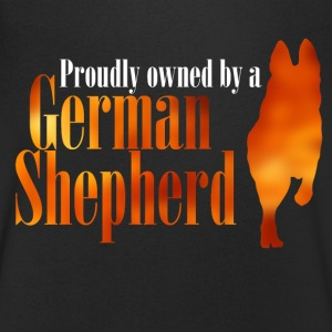 Proudly owned by a German Shepherd - Men's V-Neck T-Shirt