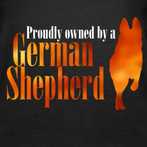 Proudly owned by a German Shepherd - Women's Premium Tank Top