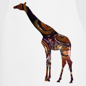 Giraffe in Fractal Chocolate Metal  Aprons - Cooking Apron