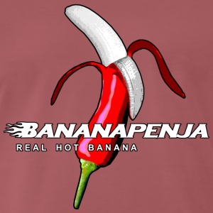 Bananapenja Revisted White Text - Men's Premium T-Shirt