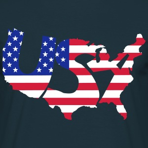 USA - Man - Mannen T-shirt