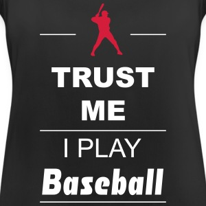 Trust me I play Baseball 2c Sports wear - Women's Breathable Tank Top