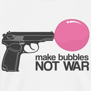 Make bubbles not war T-shirts - Mannen Premium T-shirt