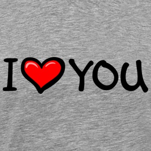 I LOVE YOU T-Shirts - Männer Premium T-Shirt