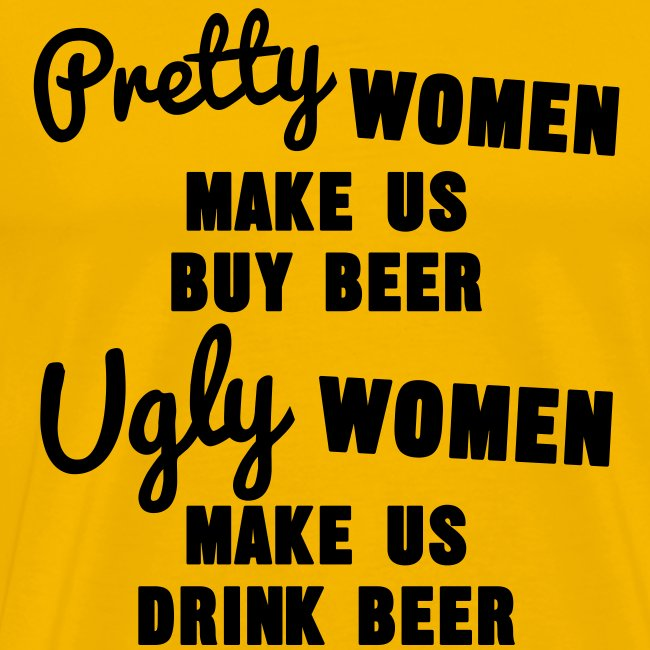 Funny heren shirt over vrouwen en bier