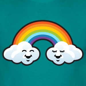 Clouds and rainbow - Men's T-Shirt
