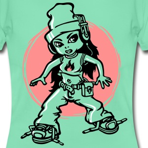 Hip-hop girl and headphone - Women's T-Shirt