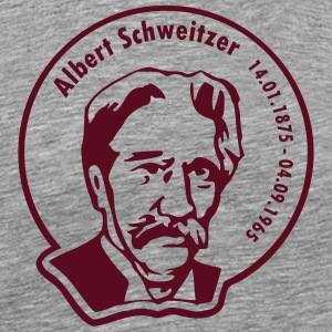 Albert Schweitzer (rund, 1 color) T-Shirts - Men's Premium T-Shirt