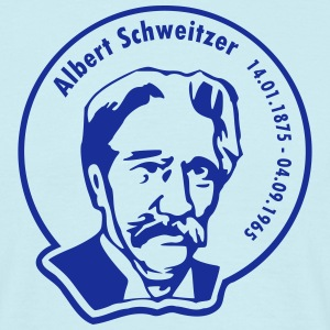 Albert Schweitzer (rund, 1 color) T-Shirts - Men's T-Shirt