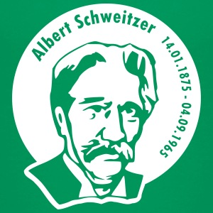 Albert Schweitzer (rund, Differenzbild) T-Shirts - Teenager Premium T-Shirt