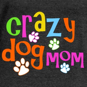 Crazy dog mom - Women's Boat Neck Long Sleeve Top