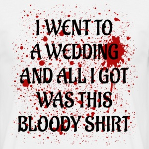 Bloody Wedding black T-shirts - Herre-T-shirt